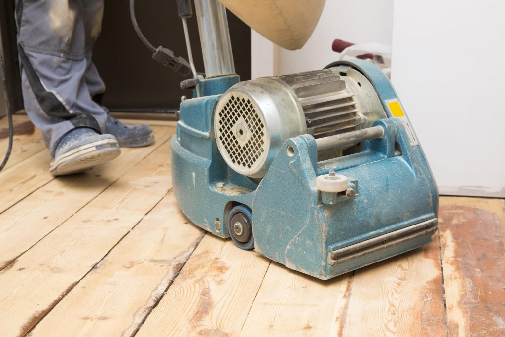 a sanding machine operated by unknown person