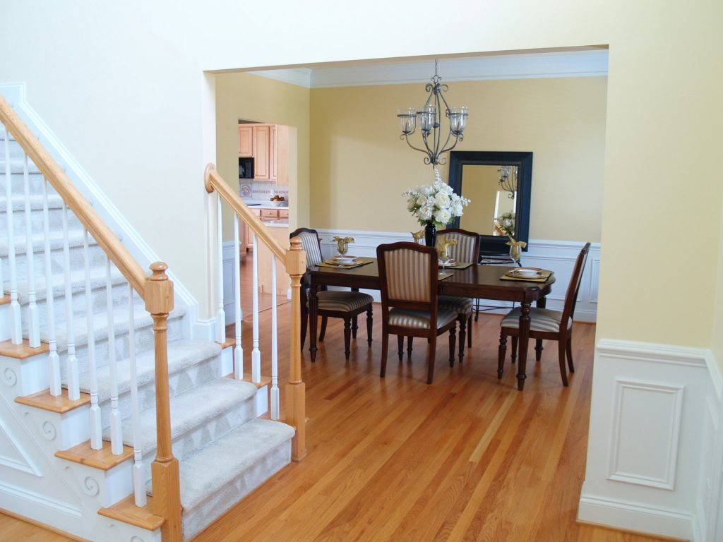 stairs before the dining area